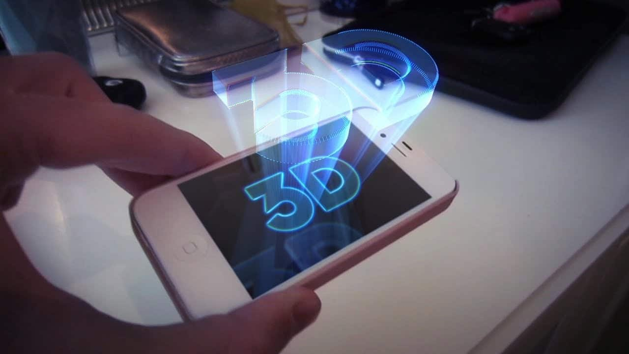 Smartphone à écran holographique